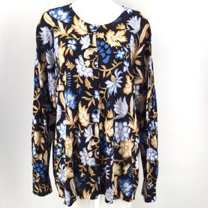 NWT LOFT Plus Size Cardigan Sweater 24/26 Floral